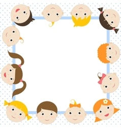 Frame with funny kids vector