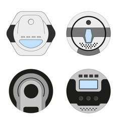 Set of vacuum cleaner appliance vector
