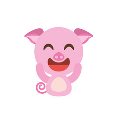 cute piggy animal character funny vector image