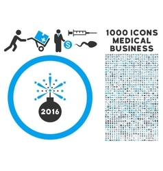 2016 fireworks detonator icon with 1000 medical vector