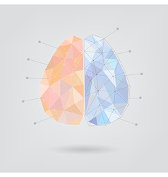 Brain concept creative triangle style v2 vector