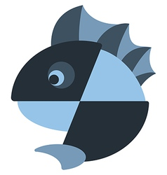 Iconic fish with a fin design vector