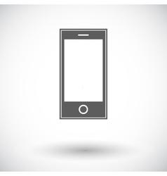 Smartphone single icon vector image
