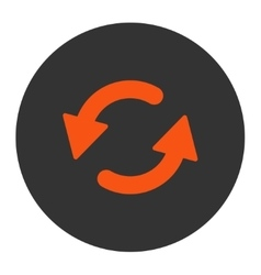 Refresh ccw flat orange and gray colors round vector