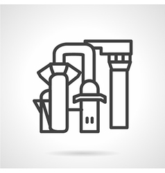 Desalination station line icon vector