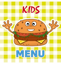 Funny burger vector image