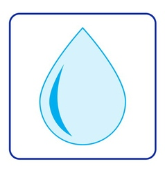 Water drop icon vector