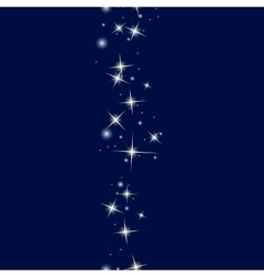 Starry line on dark blue background vector