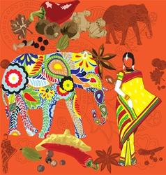 Indian symbols vector image