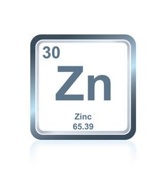 chemical element zinc from the periodic table vector image
