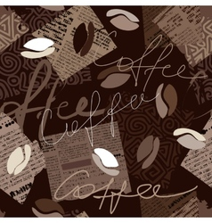 Coffee pattern vector