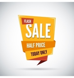 Colorful advertising flash sale banner half price vector