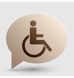 Disabled sign brown gradient icon on vector