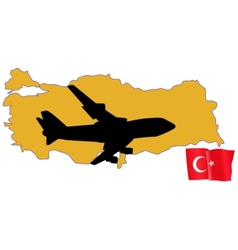 fly me to the Turkey vector image vector image