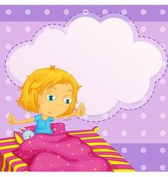 Girl dreaming vector