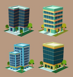 isometric building 1 vector image vector image