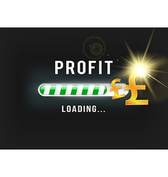 Loading your Pound profit vector image vector image