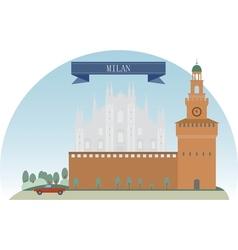 Milan vector image vector image