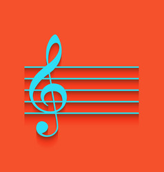 Music violin clef sign g-clef whitish vector