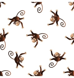 Pattern with monkeys vector image