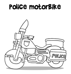 Police motor art vector