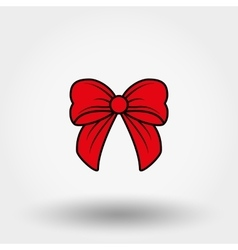 Red bow cartoon vector