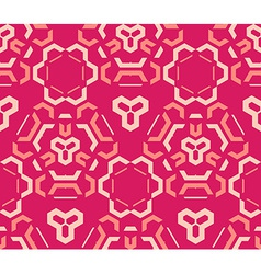 red pink color abstract geometric seamless pattern vector image