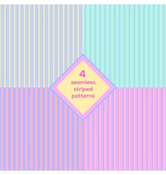 Seamless striped background set vector image
