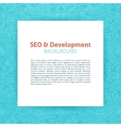Seo development paper template vector