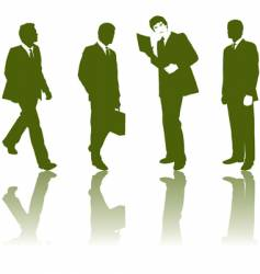 silhouette business men vector image vector image