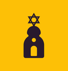 Synagogue sign simple icon vector