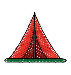 Tent icon image vector