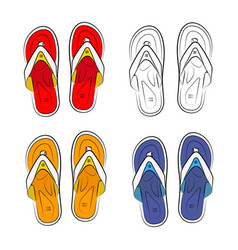 Vietnamese slippers on a white background vector