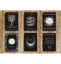 Vintage card chalkboard vector