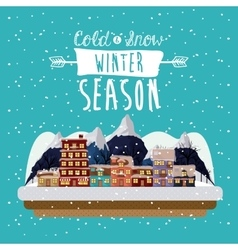 Winter season design vector