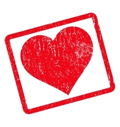 Love Heart Icon Rubber Stamp vector image