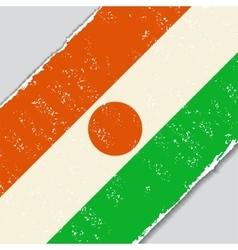 Niger grunge flag vector image