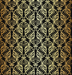 Victorian ornate wallpaper vector