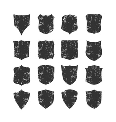 Ig set of blank grunge classic shields vector