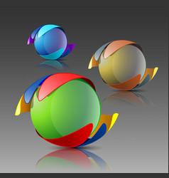 3d logo eps10 vector image