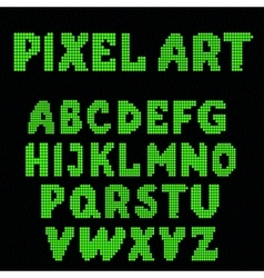 set of pixel letters vector image