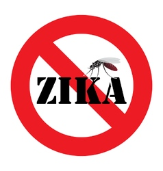Zika mosquito warning sign vector