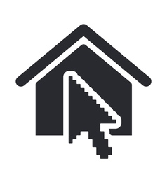 Home pointer icon vector