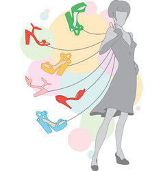 girl with shoes vector image