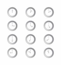 Analogue clocks vector