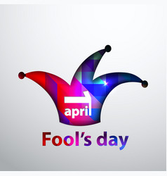 april fool s dayfirst april vector image vector image