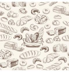 bakery retro seamlrss pattern vector image vector image