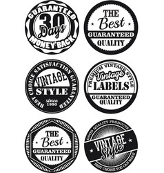 Black and white vintage labels collection 2 vector