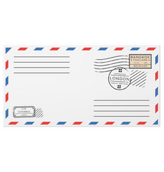 Blank horizontal postal envelope template vector