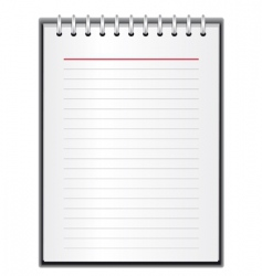 block of paper for notes vector image